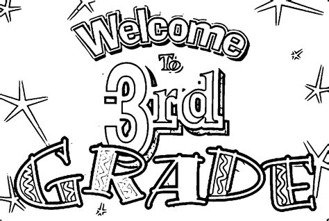 Welcome To 3rd Grade Coloring Page Wecoloringpage 3rd Grade Coloring Pages