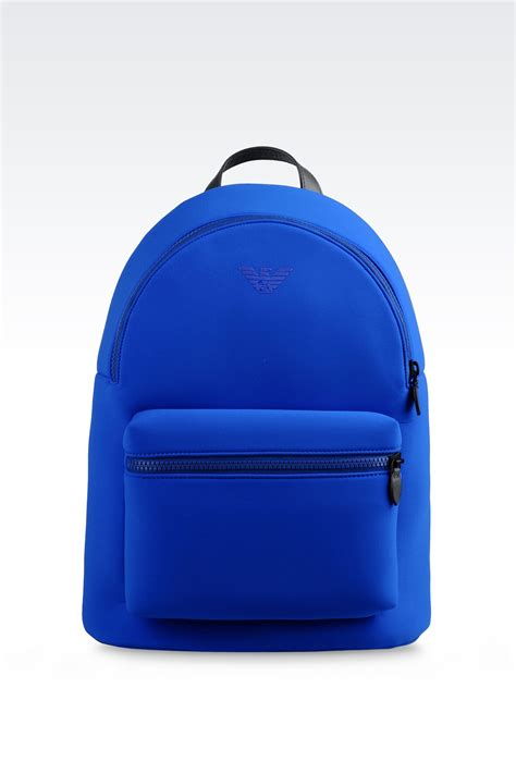 Backpack Blue emporio armani runway backpack in neoprene in blue for