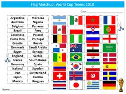 flags of the world quiz ks2 world cup 2018 country flags matchup sheet starter