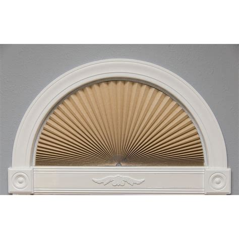 light blocking arch window shade redi shade chocolate brown paper pleated shade 36 in w