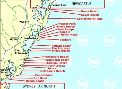 central coast australia map central surfing in central australia wannasurf surf
