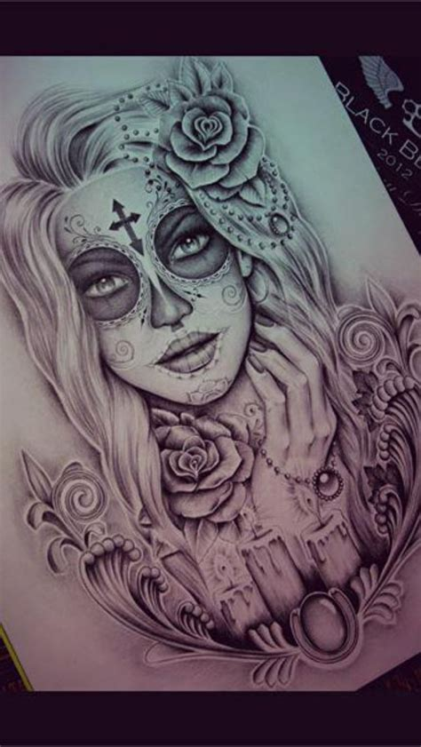 day of the dead woman tattoo designs 35 day of the dead tattoos tat
