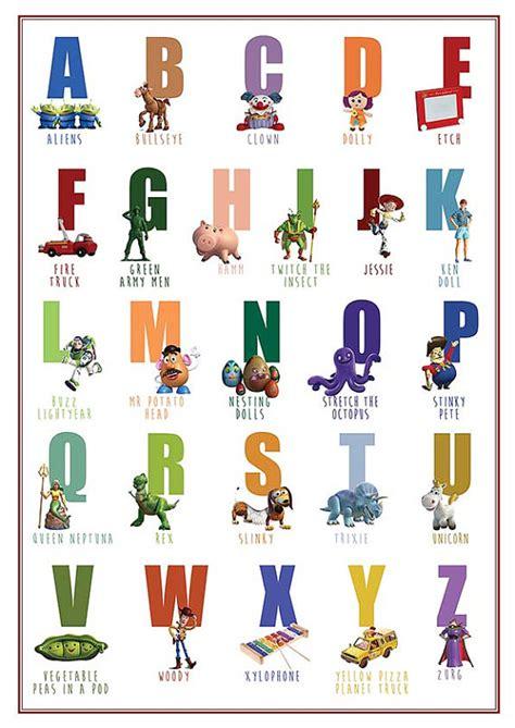 abc nursery decor printable alphabet story abc poster decor wall print