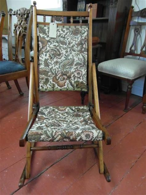 antique folding rocking chair 264397