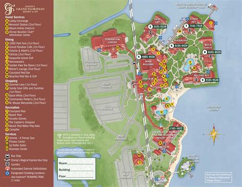 layout of grand floridian hotel grand floridian resort map wdwinfo com