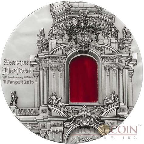 baroque basic art series palau 10th edition baroque dresden 10th anniversary tiffany art series silver coin 10 antique