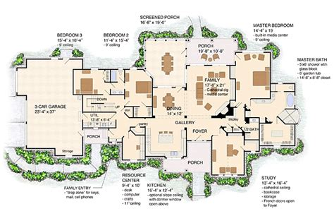 ranch farmhouse floor plans floor plan of craftsman european farmhouse ranch house plan 30507 house plans