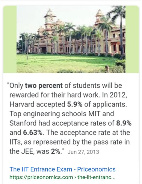 Mit Mba Acceptance Rate by What Should One About The Indian Education System
