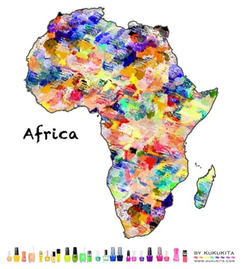africa map design world map designs with nail