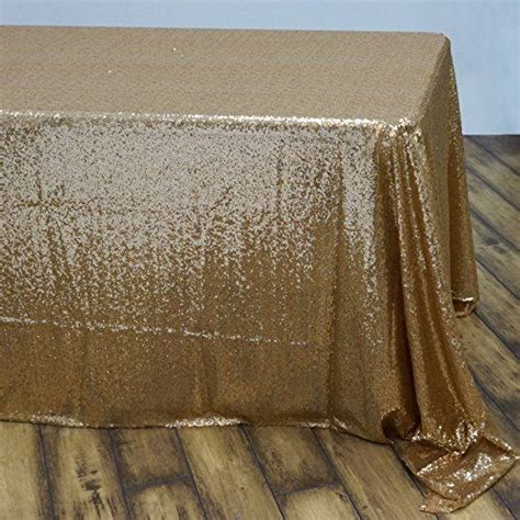 gold sequin tablecloth 60x102 quot fancy table cover new free
