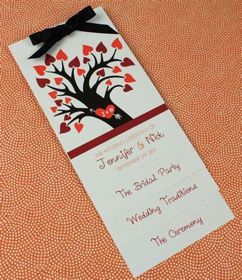 layered wedding program template trees program template and wedding program templates on