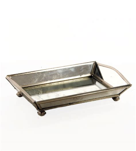 Vanity Trays by Mirrored Vanity Tray Other Mirrored Bathroom Accessories