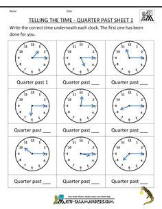 clock worksheets quarter past telling time worksheets year 3 quarter past google