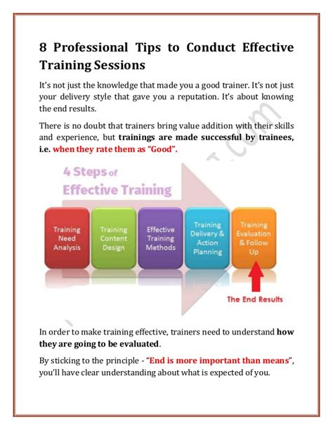 8 Tips On How To 8 Professional Tips To Conduct Effective Sessions