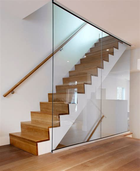 contemporary staircases white oak staircase modern staircase toronto by