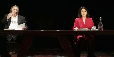 gerard depardieu theatre th 233 226 tre la frustrante lecture de depardieu