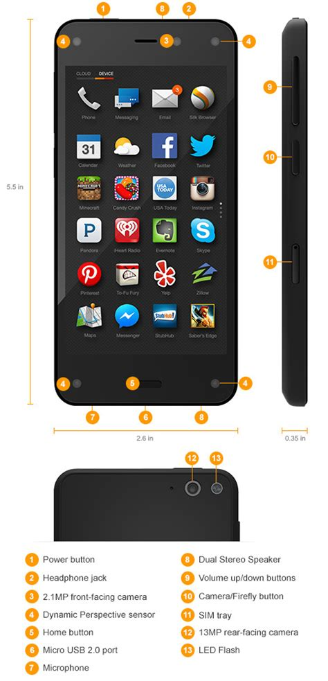 amazon fire phone amazon fire phone 13mp camera 32gb shop now