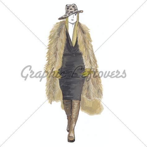 the in fur coat 183 gl stock images