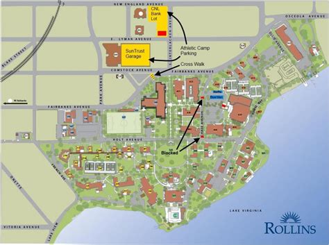 college map rollins college map map of rollins college florida usa