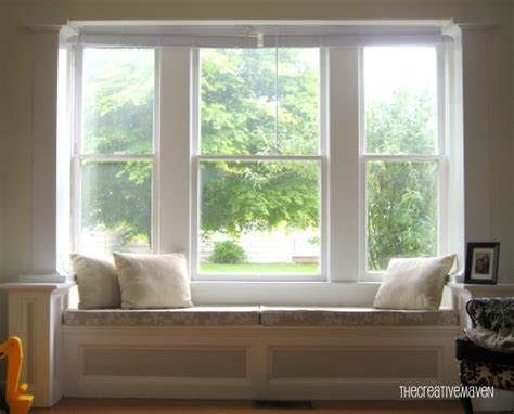 living room windows window seat cushions casual cottage