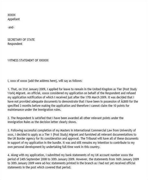 Character Witness Letter For Immigration 19 witness letter format