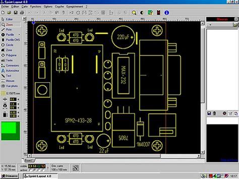 sprint layout logiciel abacom de conception de circuits imprim 233 s sprint
