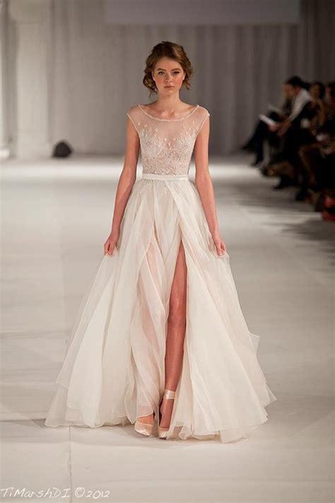 Brautkleider Durchsichtig by Illusion Neckline Wedding Dresses Chic