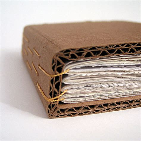 Diy Handmade Book - cardboard handbound book ephemera paper yellow binding by