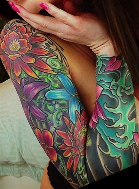 colorful tattoos for females best 25 colorful sleeve tattoos ideas on