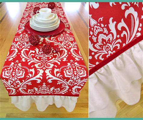 holiday ruffled end table runner sew4home