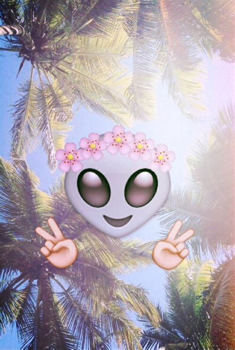 wallpaper emoji alien alien cute emoji flowers grunge wallpaper image