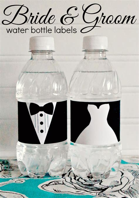 Free Bridal Shower Water Bottle Label Template Free Printable And Groom Wedding Water Bottle Labels
