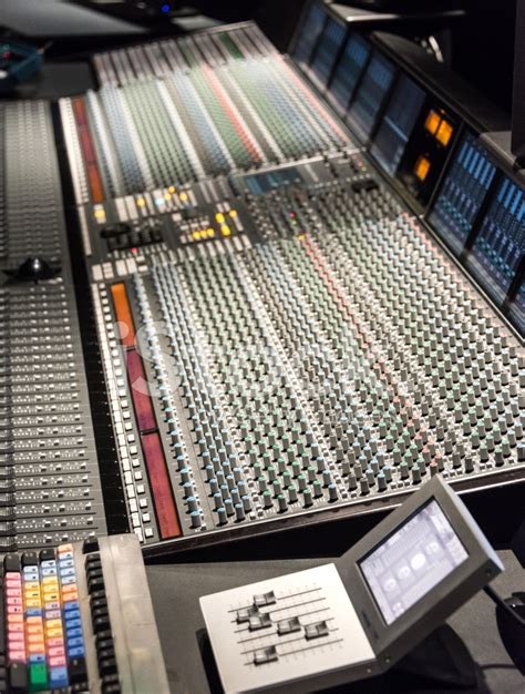 recording mixing console recording studio with mixing stock photos freeimages