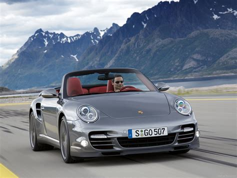 grey porsche 911 2010 grey porsche 911 turbo cabriolet wallpapers