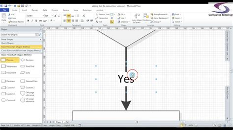 visio lines visio move connector text