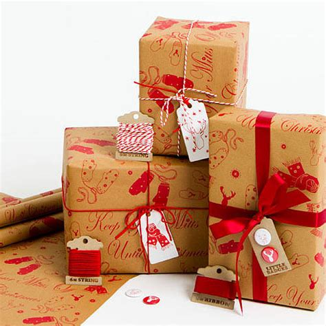 mitts off brown christmas wrapping paper by sophia