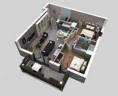 plan3d 50 plans 3d d appartement avec 2 chambres architecture
