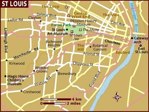st louis map usa map of st louis