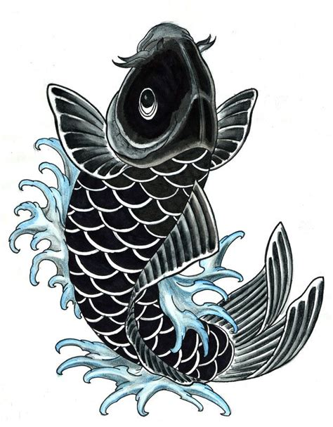 black and grey koi fish tattoo designs elaxsir