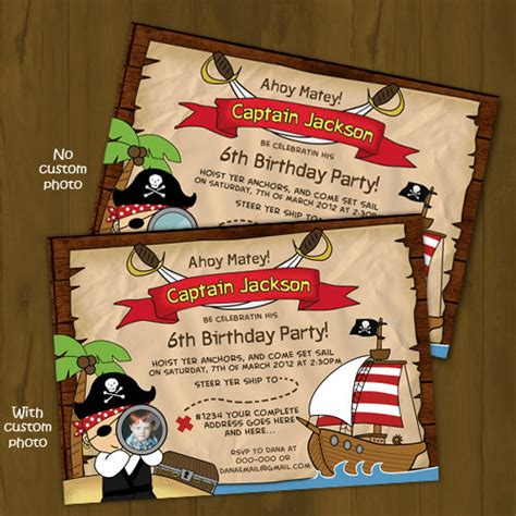 printable birthday card pirate pirate and pirate ship printable birthday party package