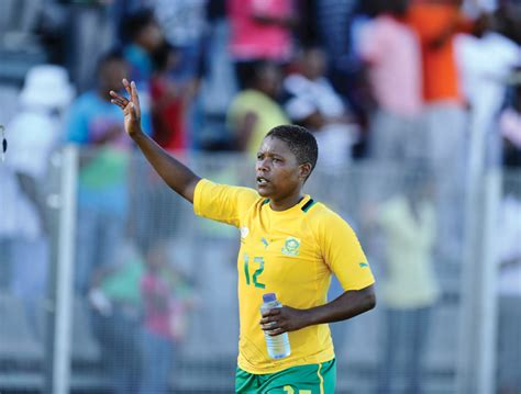 portia modise gestures as as the south african olympic team depart modise retires from banyana banyana diski 365