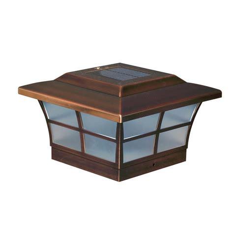 copper l post tops classy caps 6 in x 6 in copper plated prestige outdoor