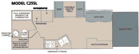 caravan floor plans coleman caravan floorplan