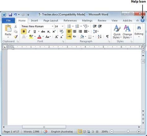 tutorialspoint ms word context help in word 2010