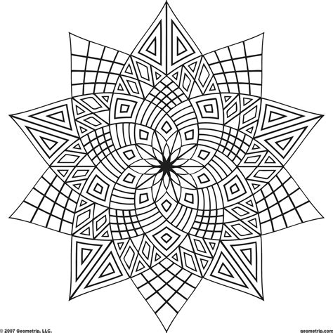 triangle pattern coloring page adult free designs too color geometrip com free