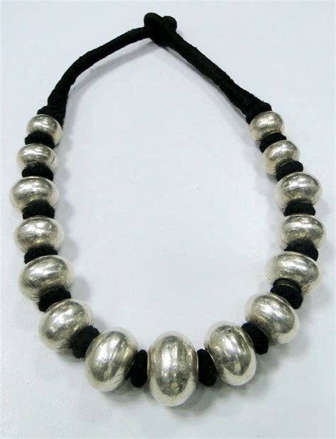 Etnic Necklace ethnic tribal sterling silver necklace jewelry 7054