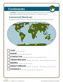 the continents worksheet education com