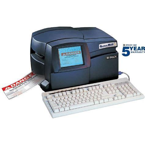 Brady Globalmark2 Color And Cut Printer 76801 The Home Depot Brady Label Templates