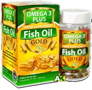 Herbal Nutrisi Otak Omega 3 Plus Fish Gold Food Supplement rasyidah herbal alami islami
