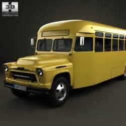 chevrolet 6700 school 1955 3d model humster3d